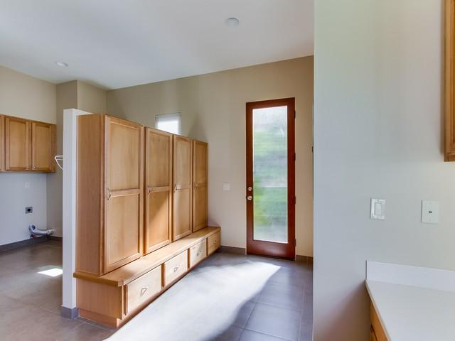 Huge laundry room with built in office that has ocean views!